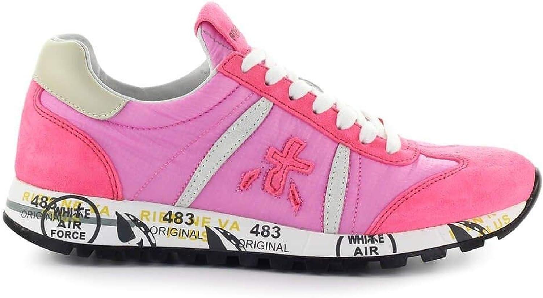 Premiata Women's LUCYD3728 Pink Fabric Sneakers