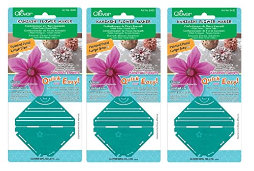 Clover Needlecrafts Bulk Buy Kanzashi Flower Maker Pointed Petal Large (3-Pack)