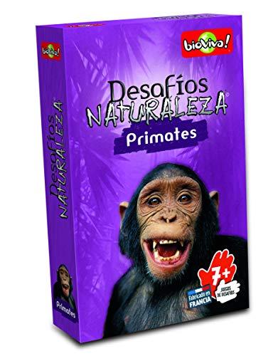 Bioviva- Juego de cartas Desafíos Naturaleza Primates (Asmo