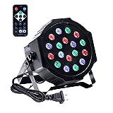 UKing Foco LED DMX, luz RGB 18 LED, iluminación de escenario, con mando a distancia, 7 modos de iluminación, para DJ discoteca, fiesta