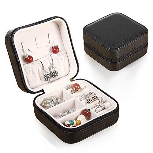 Draagbare Jewelry Box Kleine Europese -Style Prinses Opslag Hand Oorbellen Oorbel Dangler Oorbel Mini Creatieve Nagel Ketting Hanger Ring Portable Jewelry Box Onyx