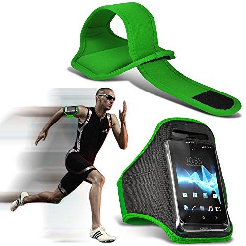 i-Tronixs (Grün) Doogee T6 pro hülle, Tasche hohe Qualität mit Sport Armbänder mit dem Fahrrad Radfahren Fitnessraum Jogging befreien Armband hülle, Case