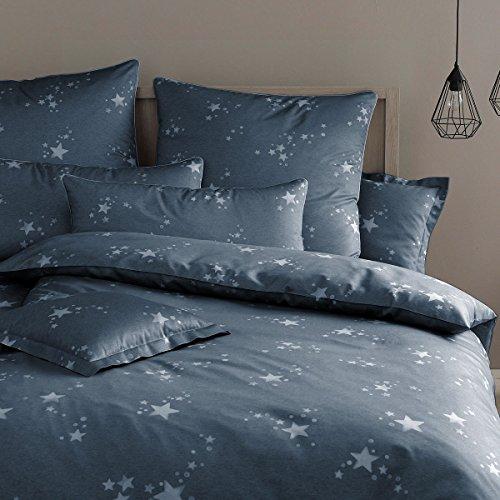 elegante Mako-Satin Bettwäsche Startime Jeans 1 Bettbezug 240 x 220 cm + 2 Kissenbezüge 80 x 80 cm