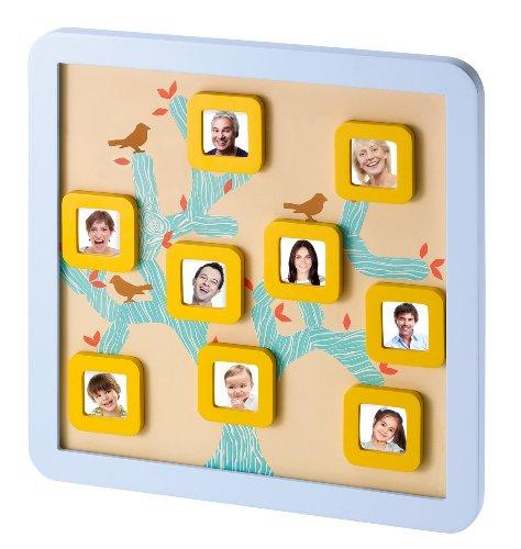 Baby Art Family Tree Frame Bilderrahmen für Familienstammbaum, mit Magneten als Familienerinnerung
