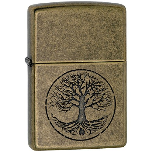 Zippo Personalized Message Engraved on Backside Customized Part4 Lighter Windproof Lighter (Tree of Life)