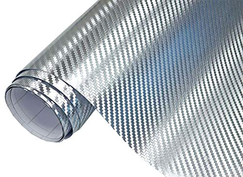 8€/m² Auto Folie 3D Carbon Folie Chrom silber 200 x 152 cm selbstklebend BLASENFREI Wrapping Klebefolie