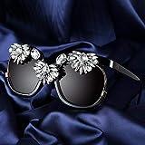 Mode Sonnenbrillen Frauen Markendesign Mit Großem Rahmen Quadratische Sonnenbrille Mit Luxus-Diamant-Sonnenbrille Damen Fashion Shades Frauen Eyeware Leopard