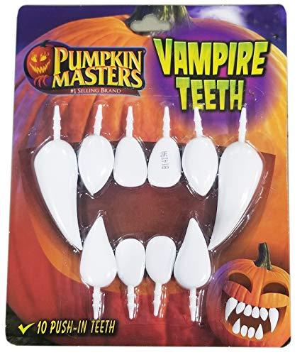 Vampire Teeth for Pumpkins, 10 Push-In Teeth