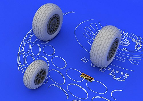 Eduard Brassin 1:48 - P-61 Wheels (Great Wall Hobby) - (EDB648057)