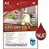 SKULLPAPER® Klebefolie transparent zum aufkleben und selbst gestalten - für Inkjet...