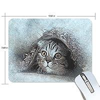 マウスパッド かわいい 子猫 キュート 目つき ペット ビンテージ 高級 ノート パソコン マウス パッド 柔らかい ゲーミング よく 滑る 便利 静音 携帯 手首 楽