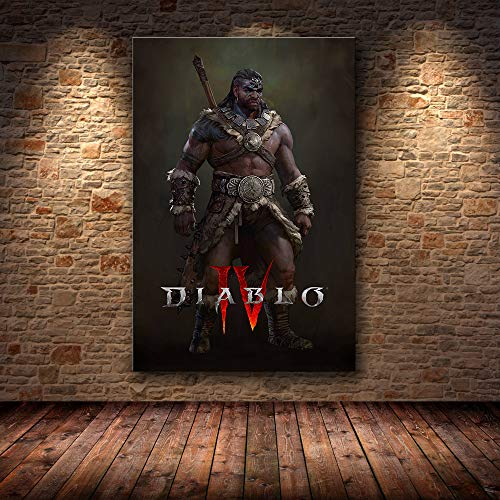 zpbzambm Diablo Iv Hd-Spielplakat Lilith Home Decoration Malerei Wandkunst Leinwand Wandbild,Rahmenloses Gemälde 50X60Cm -Aa606
