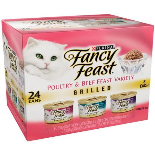 Fancy Feast Poultry and Beef Grilled 24 Can Pack