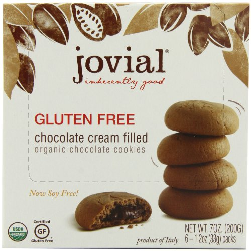 Jovial Gluten Free Cookies   USDA Certified Organic   Chocolate Cream Filled Cookies   All Natural Ingredients   Palm Done Right   7 oz (5 Pack)
