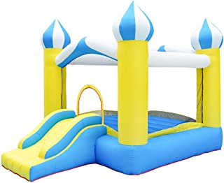 Castillos hinchables Pequeño Castillo Inflable Juegos Infantil Inflable trampolín Inflable Trampolín Entretenimiento Castillo Inflable (Color : Yellow, Size : 340x250x230cm)