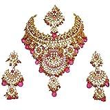 Retailbees - Juego de collar para novia, chapado en oro, diseño de circonita