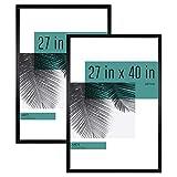 MCS Industries Studio Gallery Frames, 27x40 in, Black Woodgrain, 2 Count
