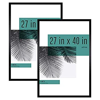 MCS Industries Studio Gallery Frames 27x40 in Black Woodgrain 2 Count
