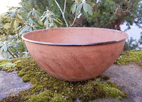 Eisenschale Dekoschale Pflanzschale Blumenschale halbrund Rost 30 cm
