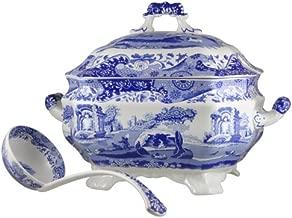 Spode 783931401145 Blue Italian Soup Tureen and Ladle Set, White