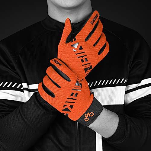 INBIKE MTB Handschuhe Herren Kinder Damen Fahrradhandschuhe Atmungsaktiv rutschfest Touchscreen Radhandschuhe Für Moutainbike Dowhill Radsport Orange M - 5