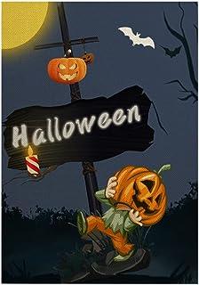 ASKLKD Happy Halloween Garden Drapeau de la Conception d'impression Double Face Verticale Buard Bienvenue Sign Signe Lawn ...