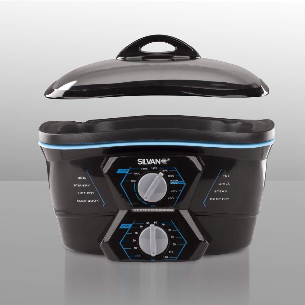 Robot de cocina multifuncion 8 en 1 freidora horno plancha ...
