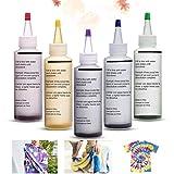 Essort Kit Tie-Dye, Tie Dye Kit - Art & Crafts, Peinture Textile Permanente Couleurs Vives avec 20 Élastiques en Caoutchouc et 4 Paires de Gants en Vinyle