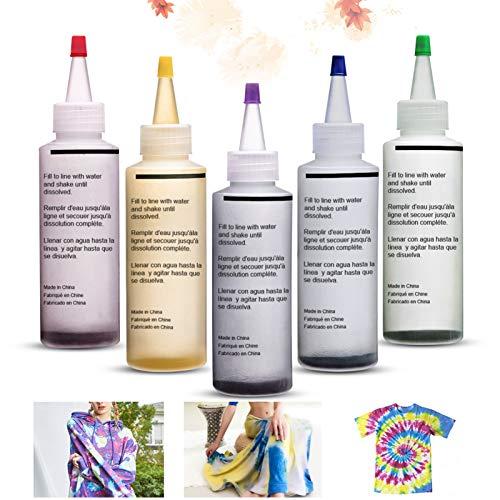 Essort Tie-Dye Kit Tinte para Ropa 5 Colores Juego de Teñid