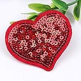 PiniceCore 10pcs / Lentejuelas Patch corazón Rojo para el Vestido del suéter...