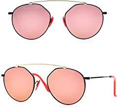 BNUS Italy made Bridge Sunglasses Corning natural Glass lens Genuine Leather Arms