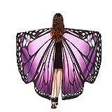 TMEOG Chal de Alas de Mariposa, Duendecillo Disfraz Capa de Muchacha Accesorio Disfraz Playa Fiesta para Adulto Mujer (A_FZ)