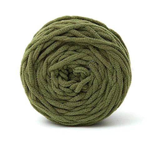 Celine lin One Skein Super Soft Baby Blanket Yarn Big Warm Scarf Yarn Crochet Yarn,Olive Green