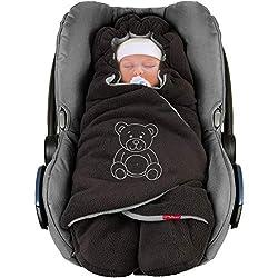 Winterfußsack Schwarz Grau Universal Fußsack für Babyschale z.B. Maxi-Cosi