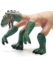 CreepyParty Dinozaur palec ręka laleczka ręczna dinozaur T-rex laleczki palec rekwizyty zwierzę palec ręce laleczki (zielone)