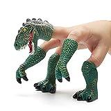 CreepyParty Burattino della Mano del Dito del Dinosauro Handi Dinosaur Burattini di T-rex Burattini della Mano del Dito degli Animali (Verde)