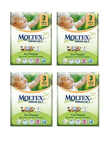 Lot de 4 couches Moltex Midi Taille 3 (136 couches)