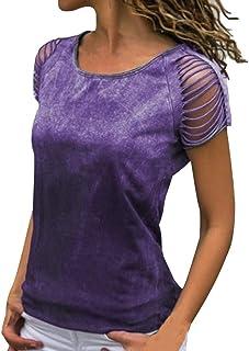 Auifor Die Frauen Casual Tops Langarm-Shirt O Ansatz Loser T-Shirt-Bluse T Top