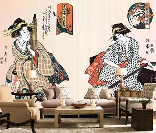 Wallpapers muurschildering aangepast behang japanse meid japanse restaurant muurschildering huisdecoratie woonkamer slaapkamer 3D-behang 430 * 300cm