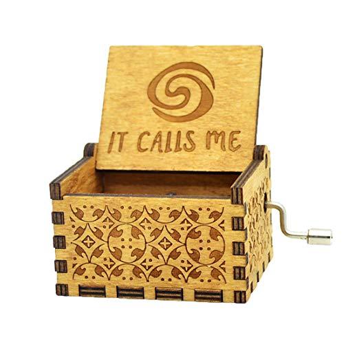 Y&S Star Wars Spieluhr, Holz, graviertes Geschenk, Spieluhr mit Handkurbel für Kinder, holz, Moana(it calls me)