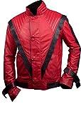 Feather Skin Michael Jackson Thriller De Estilo Chaqueta De Cuero De Color Rojo-L