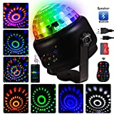 Disco Ball Lights LED Night Lights Bluetooth Speaker Sound Activated Party Lights with Remote Control 9 Colors Strobe Lights for Home Room Dance Parties Birthday KTV Xmas Wedding Show