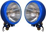 Conjunto de lámpara de arado azul claro adecuado para tractor con bombilla de 12 V