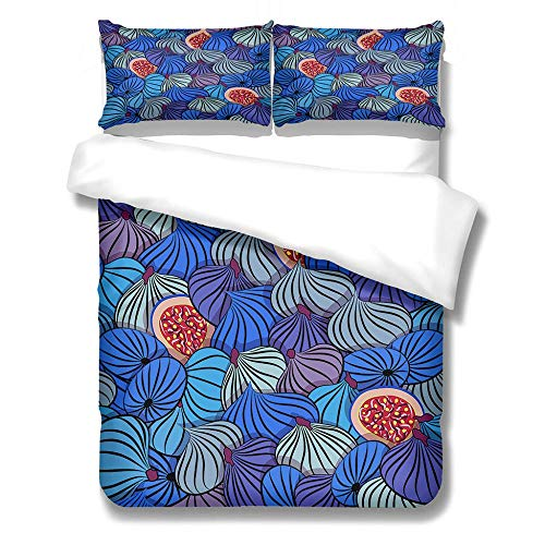 Bedding Set Duvet Cover and Pillowcase Comic Buns Microfiber Boy Child Teenager Duvet Cover Zipper Closure 1 Quilt Bedding Set with 2 Pillowcases, Single: 140x200 cm