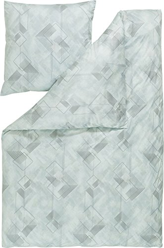 Estella Parure de lit en jersey interlock rahul 135 x 200 cm Menthe