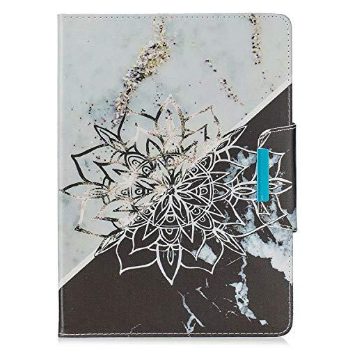 MUTOUREN Holster Hülle für kompatibel mit Samsung Galaxy Tab T830, Handyhülle PU Leder Tasche Flip Case Ledertasche Ultra Dünn Telefonkasten Cover Soft Kratzfest,Blume