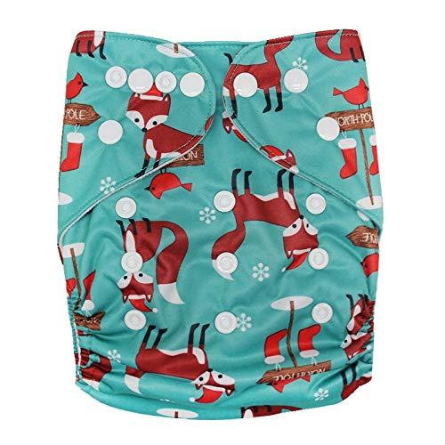 Haokaini Couche réutilisable de Bain, Couches imperméables réglables de Tissu, Cadeaux lavables de fête de Natation de leçons de Natation lavables Pendant 0-2 Ans (Color : Fox, Size : 0-2 Years)