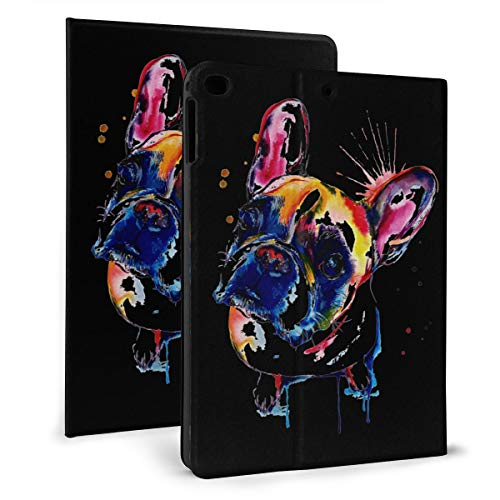 Cute Funny French Bulldog IPad Case Fit IPad Mini 4/5,Ipad 2017/2018 & Ipad Air 1/2 Stand Cover Case for Apple IPad 9.7 Inch Slim Stand Hard Back Shell Protective Smart Cover Case