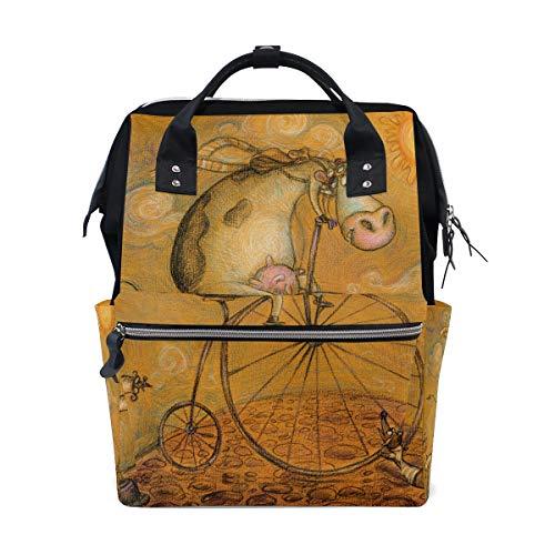FAJRO - Mochila de Viaje con diseño de Vaca