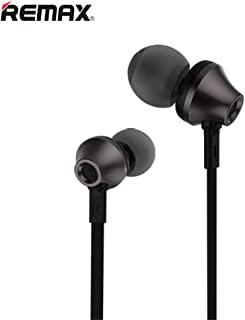 Remax RM-610D Portable Sport Stereo in-Ear with 3.5mm Jack Earbuds Hands-Free Earphone Headset for Smartphone (Black,Length 47.2 Inches)